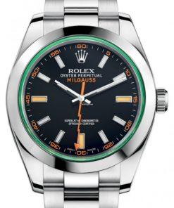 Replica horloge Rolex Milgauss 01 116400GV (40mm) Esfera negra Automático