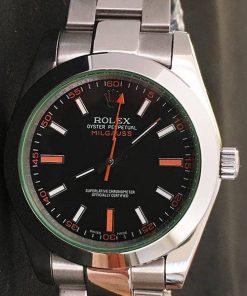 Replica horloge Rolex Milgauss 01 116400GV (40mm) Esfera negra