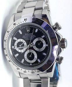 Replica de reloj Rolex Daytona 11 cosmograph (40mm) 116520 (Esfera negra) Automático