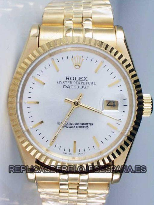 Replica de reloj Rolex Datejust 08 (36mm) Oro Correa Jubilee