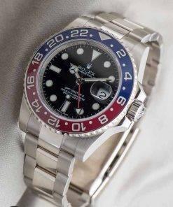 Replica de reloj Rolex Gmt-master ll 01 (40mm) 116719BLRO Pepsi Bisel azul/rojo (Correa Oyster) Automático
