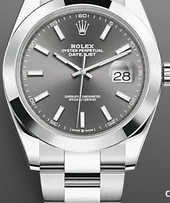 Replica de reloj Rolex Datejust ll 29 (41mm) 126300 Oyster (Esfera gris) grey /automático