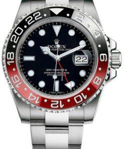 Replica de reloj Rolex Gmtmaster ll 04 (40mm) 16710 Coca Cola Negro/rojo (Correa Oyster) Automático