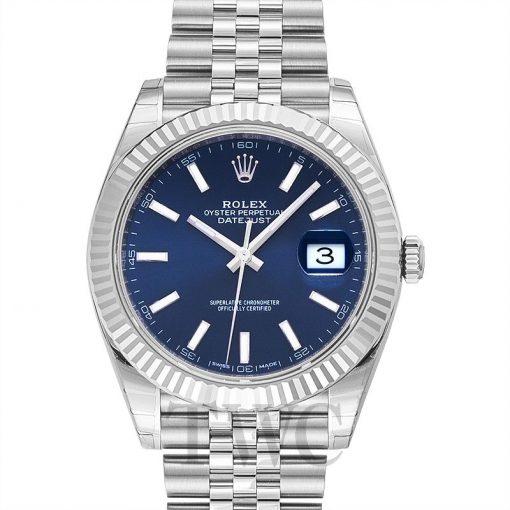 Replica de reloj Rolex Datejust ll 26 (41mm) 126334 correa Jubilee (Esfera azul) automático