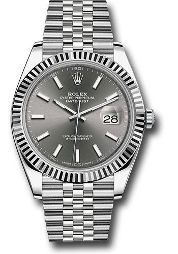 Replica de reloj Rolex Datejust ll 27 (41mm) 126334 correa Jubilee (Esfera gris) automático