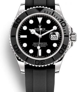 Replica de reloj Rolex Yacht master 04 (42 mm) m226659 Esfera negra (Caucho) Automático