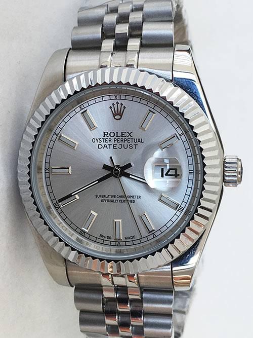 Replica de reloj Rolex Datejust 27 (41mm) 126334 Jubilee (Esfera gris)