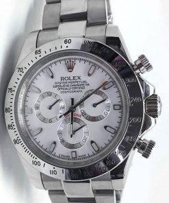 Replica de reloj Rolex Daytona 12 cosmograph (40mm) 116520 (Esfera blanca) Automático