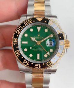 Replica de reloj Rolex Gmtmaster ll 06 (40mm) M116710 verde (Correa Oyster) Automático Acero y oro