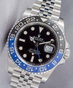 Replica de reloj Rolex Gmtmaster ll 03 (40mm) 116710BLNR Batman Azul/Negro (Correa Jubilee) Automático