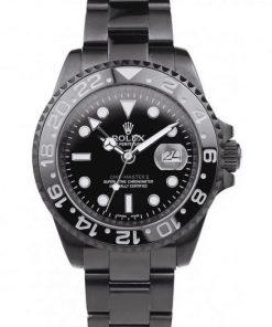 Replica de reloj Rolex Gmtmaster ll 07 (40mm) 116710 Limited Edition /35 Black Venom Automático