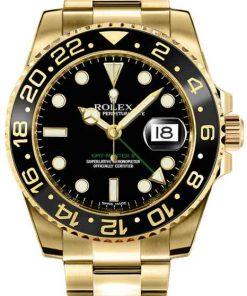 Replica de reloj Rolex Gmtmaster ll 05 (40mm) Oro 16710 Negro (Correa Oyster) Automático