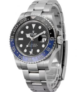 Replica de reloj Rolex Gmtmaster ll 02 (40mm) 116710BLNR Batman Azul/Negro (Correa Oyster) Automático