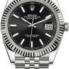 Replica de reloj Rolex Datejust ll 28 (41mm) 126334 correa Jubilee (Esfera negra) Automático