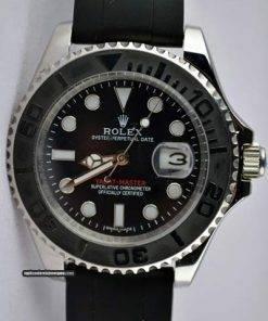 Replica de reloj Rolex Yacht master 04 (40mm) 226659 Esfera negra (Caucho) Automático