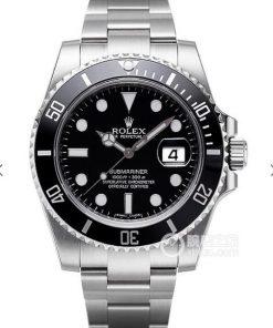 Replica de reloj Rolex Submariner 01 (40mm) 116610LN Black (Con fecha) Automatico esfera negra