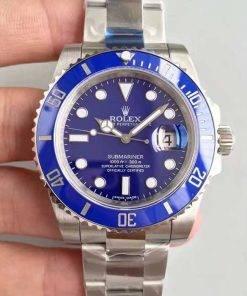 Replica de reloj Rolex Submariner 02 (40mm) 116610LV (Azul) Oyster (Con fecha) Automatico