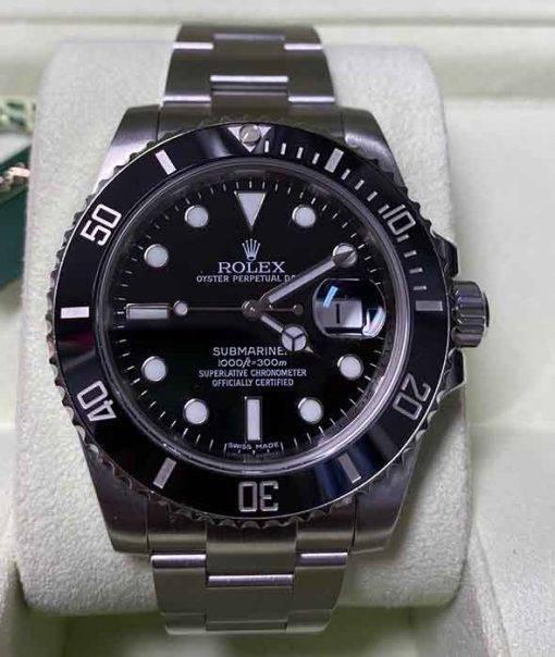 Replica de reloj Rolex Submariner 01 (40mm) 116610LN Black (Con fecha) Automatico