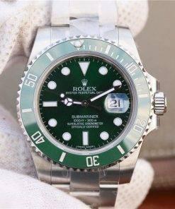 """Replica de reloj Rolex Submariner 02 (40mm) 116610LV """"Hulk"""" Verde Oyster (Con fecha) Automatico"""