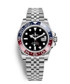 """Replica de reloj Rolex Gmt-Master ll 08 (40mm) 126710BLRO """"Pepsi"""" Jubilee (Automático)"""