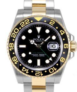Replica de reloj Rolex Gmt-Master ll 09 (40mm) 116713LN Bi-color (Acero y oro) Automático