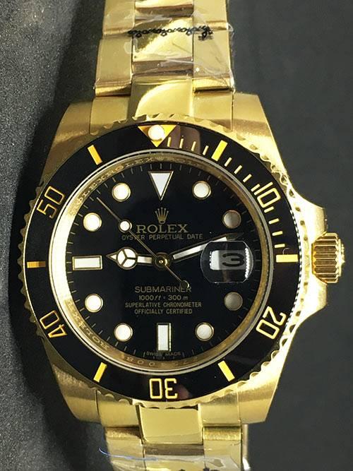 """Replica de reloj Rolex Submariner 06 (40mm) 126618LN """"Negro"""" (oro) correa Oyster (Con fecha) Automatico"""