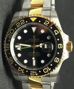 Replica de reloj Rolex Gmt-Master ll 09 (40mm) Bi-color (Acero y oro) Automático