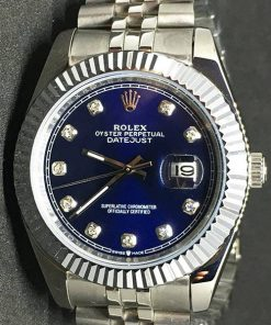 Replica de reloj Rolex Datejust 31(40mm) (Jubilee) Esfera azul (Diamantes)