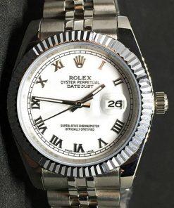 Rolex Datejust 32 (40mm) (correa Jubilee) Esfera blanca (Números Romanos)
