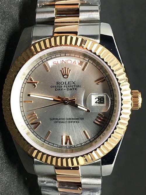 Rolex Day-Date 02 (40mm) Esfera gris(acero y oro (President band)
