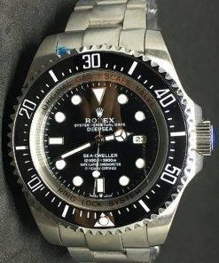 Replica de reloj Rolex Sea Dweller 01 Deepsea (44mm) 126660 Esfera negra (Acero)
