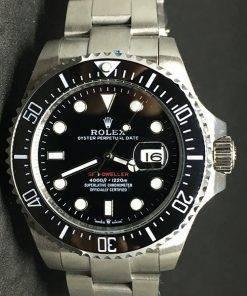 Replica horloge Rolex Sea Dweller 04 (43mm) 126660 Esfera negra (con lupa)