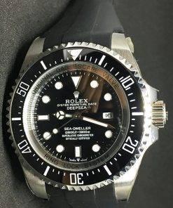 Replica de reloj Rolex Sea Dweller 02 Deepsea (44mm) 126660 Esfera negra (Caucho)