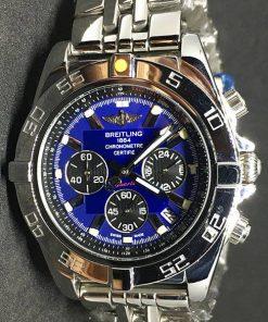 Replica horloge Breitling Chronomat B01 04 (44mm) Blauwe wijzerplaat/ Stale band
