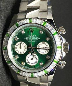 Replica de reloj Rolex Daytona 05 cosmograph (40mm) verde (Diamantes) Automático
