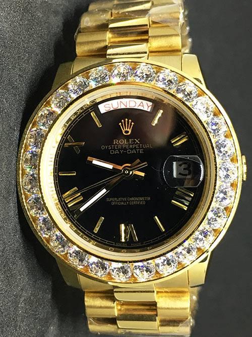 Replica de reloj Rolex Day-Date 16 (40mm) ES10040150A Esfera dorada (Correa President) Automático