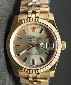 Replica de reloj Rolex Datejust 36 (36mm) (Correa Jubilee) Esfera dorada Gold