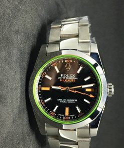 Replica de reloj Rolex Milgauss Dames 01 (36 mm) Esfera negra (Correa Oyster)