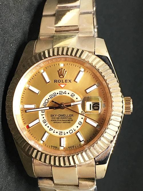 Replica de reloj Rolex Sky dweller 04 (42mm) Esfero Oro/ Gold