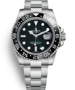 Replica de reloj Rolex Gmt-Master ll 10 (40mm) 116710LN Negro (Correa oyster) Automático Black