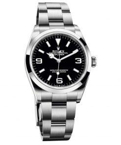 Replica de reloj Rolex Explorer 01 (39mm) 214270 Esfera negra (Acero) correa Oyster (Automático) acero 316L