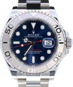 Replica de reloj Rolex Yacht master 06 (40mm) 126622 (Esfera azul) Automático (correa oyster) Platinium