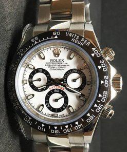 Replica de reloj Rolex Daytona 08 cosmograph (40mm) 116500LN (Esfera blanca) Automático