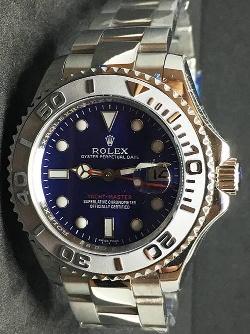 Replica de reloj Rolex Yacht master 06 (40mm) 126622 (Esfera azul) Automático