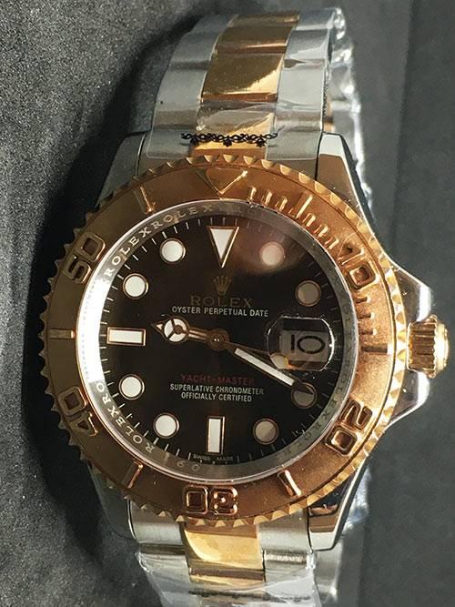 Replica de reloj Rolex Yacht master 03 (40mm) 126621 Chocolate Bi-Color Automático