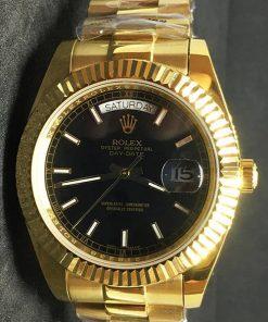 Replica de reloj Rolex Day-Date 17 (40mm) 228238 Esfera negra (Correa President) Automático