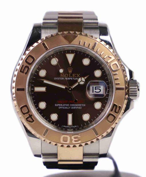Replica de reloj Rolex Yacht master 03 (40mm) 126621 Chocolate Bi-Color Automático (Correa oyster)