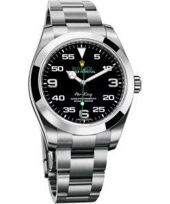 Replica de reloj Rolex Air King 01 (40mm) 116900 correa Oyster/ Esfera negra