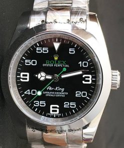 Replica de reloj Rolex Air King 01 (40mm) 116900 correa Oyster/ Esfera negra