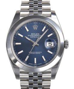 Replica de reloj Rolex Datejust ll 22 (41mm) 126300 correa Jubilee (Esfera azul) automático